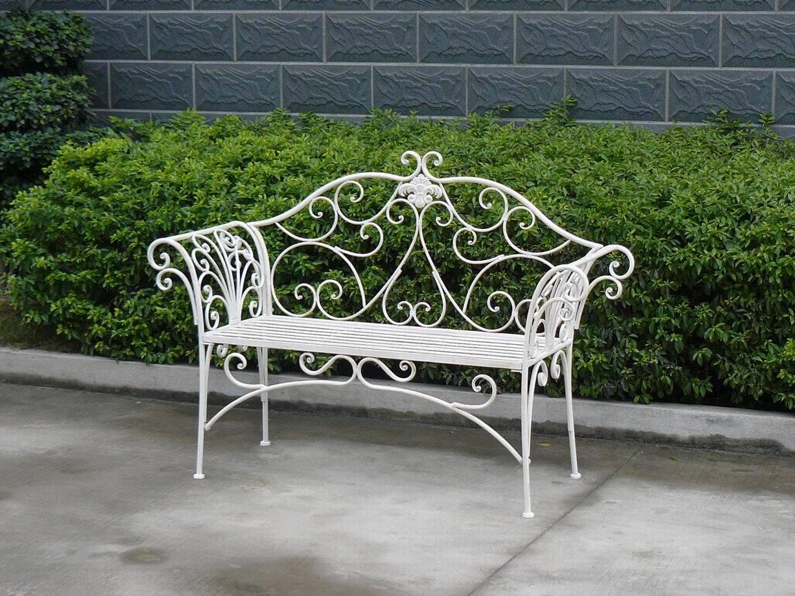 banco de jardim metal:ao ar livre de dobramento do banco do jardim do pátio do metal