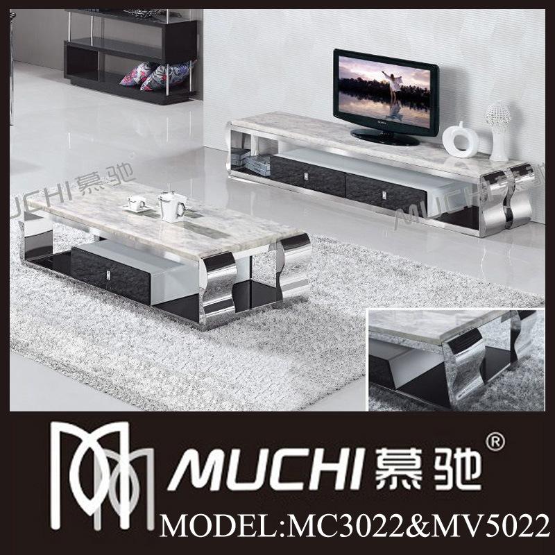 V ritables meubles de marbre modernes luxueux de salle de for Meuble de salle de sejour