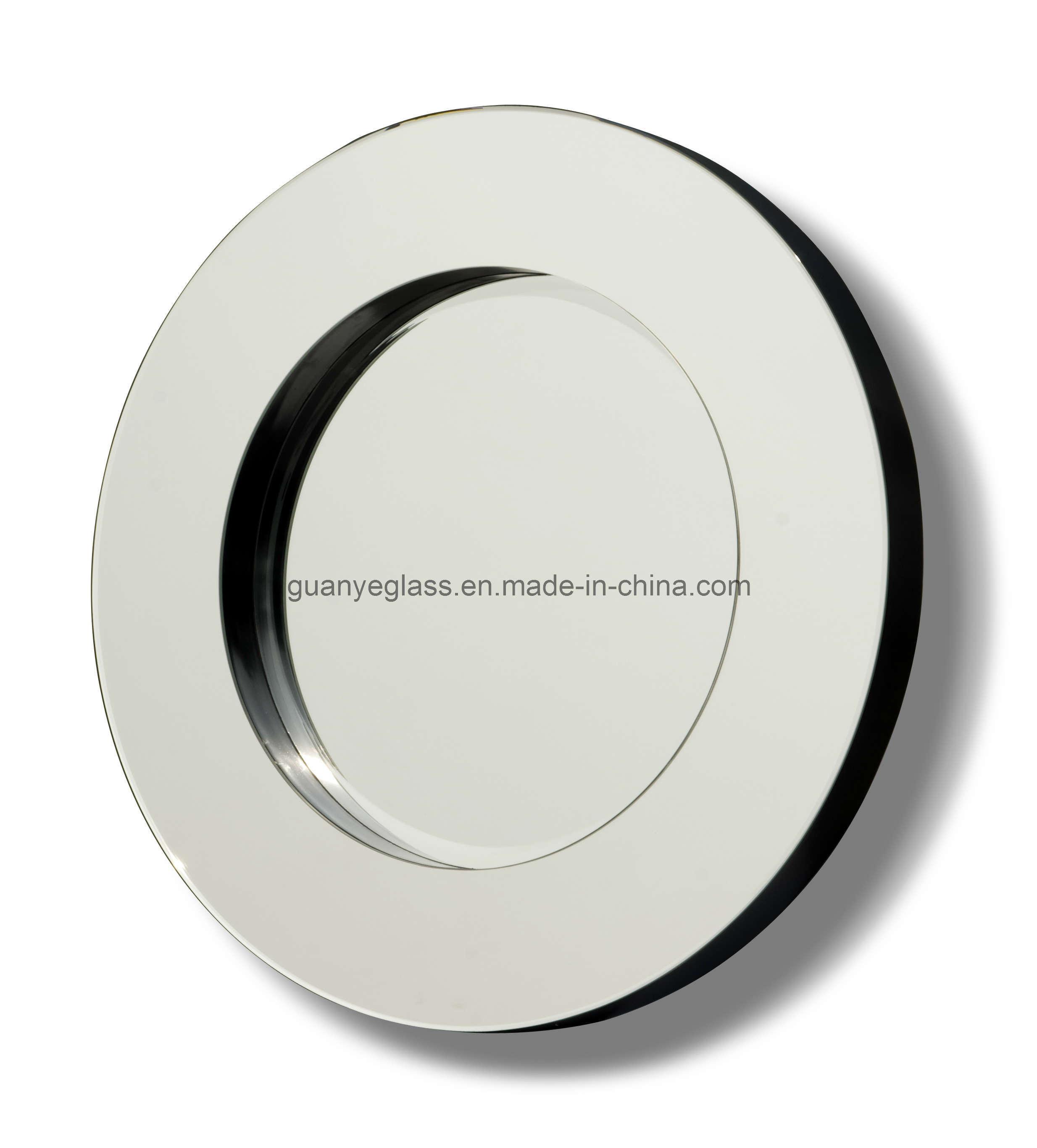 Verre argent rond et miroir fix au mur de forces de for Force de miroir ebay