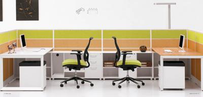 Muebles modulares del sitio de trabajo de la oficina for Muebles modulares oficina