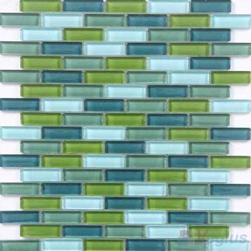 Azulejo de mosaico mezclado de la pared del verde azul del for Azulejo de la pared de la cocina verde