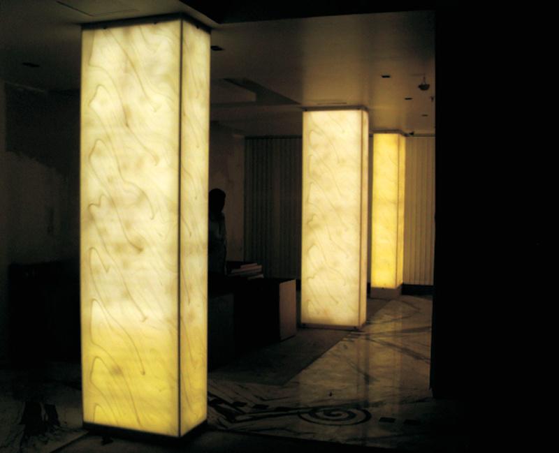 Tw 호화스러운 디자인 반투명 벽 기둥 돌 아름다운 가구 디자인 ...