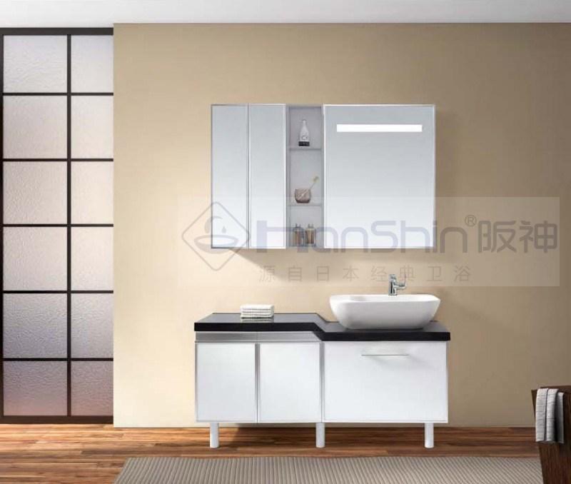 Cabinet de vanit de salle de bains avec le miroir et la for Cabinet de salle de bain