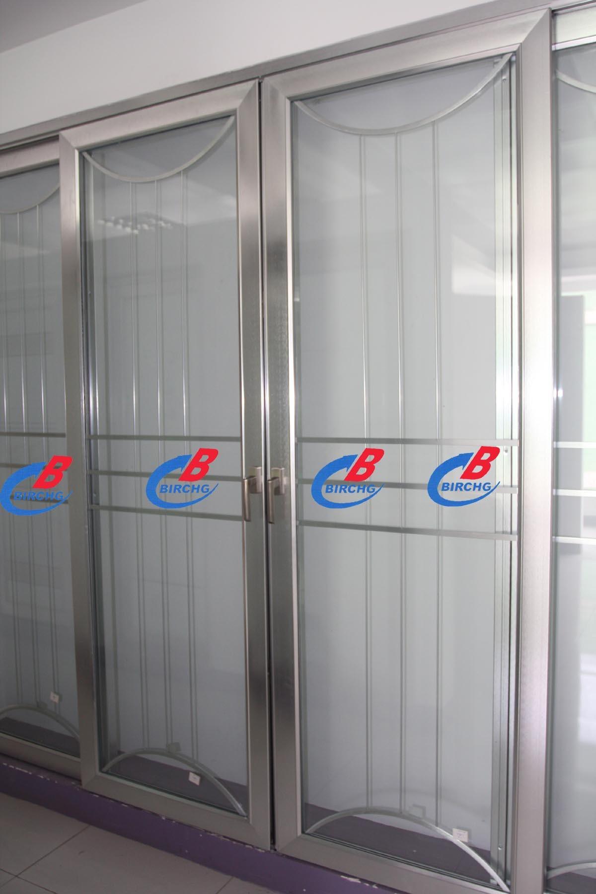 porte coulissante en aluminium 3 rails porte