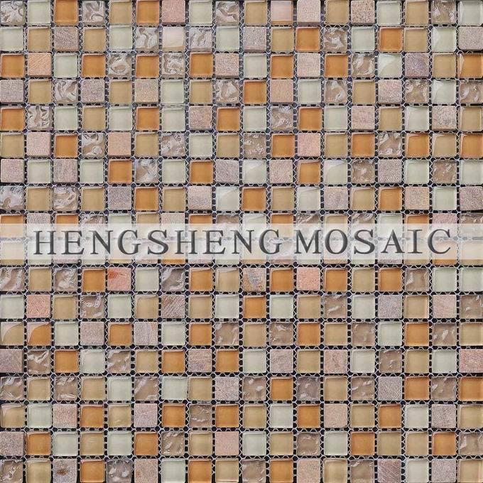 Azulejo de cristal mezclado de piedra de la pared del - Azulejos de cristal ...