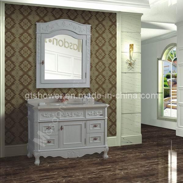 Muebles De Baño Antiguos:Muebles de madera antiguos de la vanidad del cuarto de baño (GD98830