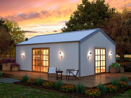 Maisons de luxe pr fabriqu es de kit de structure for Kit maison metallique