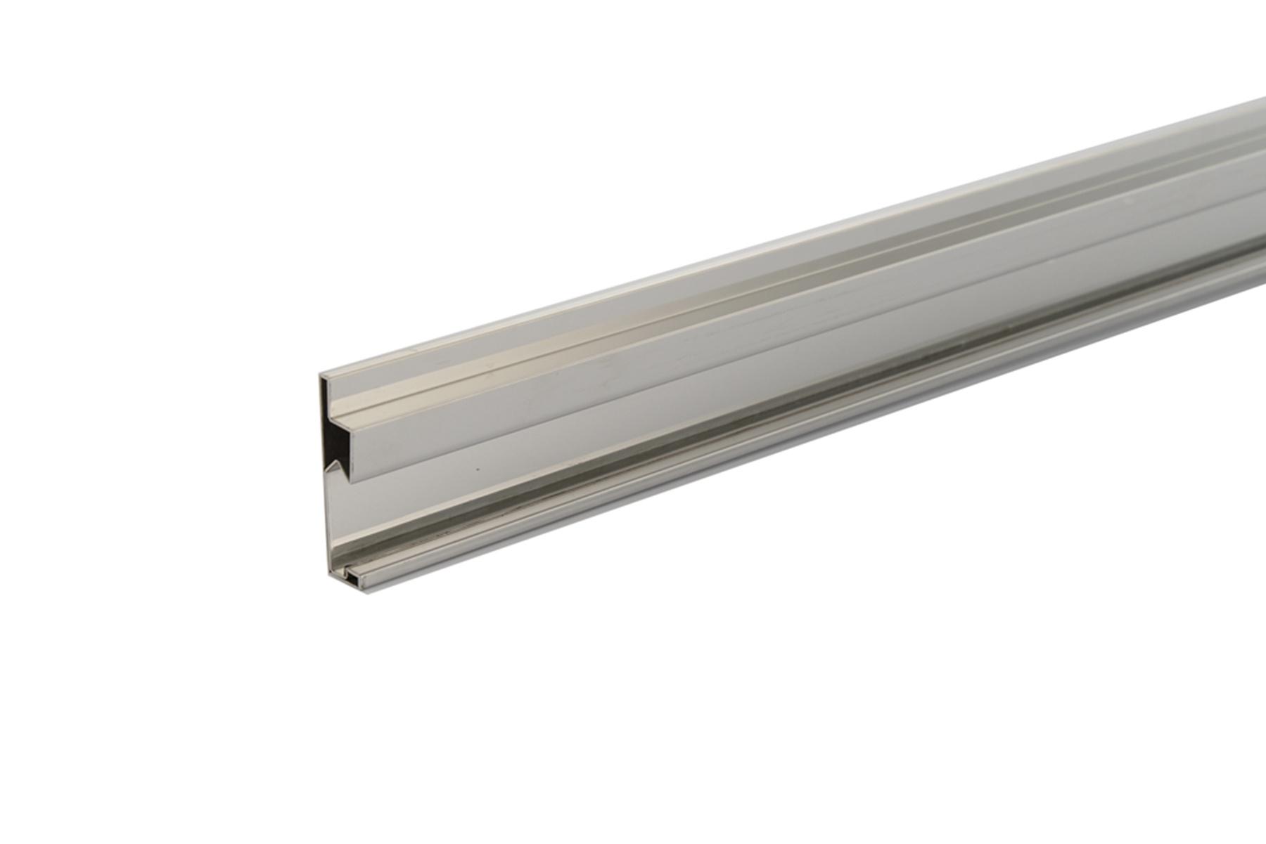 Ducha perfil deslizante de acero inoxidable ducha de for Accesorios de bano acero inoxidable