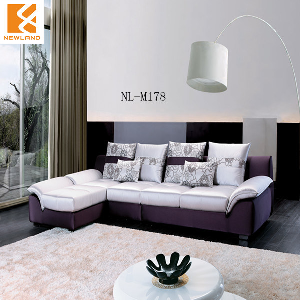 Sof moderno de la l forma de los muebles de la tela nl for Muebles espanoles modernos