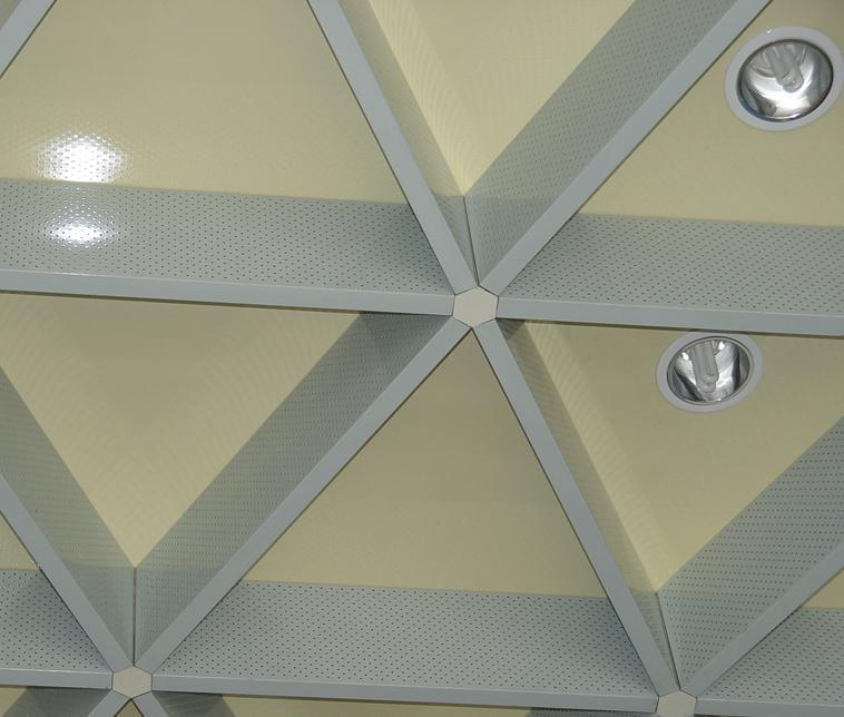 plafond de gril de triangle plafond de gril de triangle fournis par guangzhou auspoll metalwork. Black Bedroom Furniture Sets. Home Design Ideas
