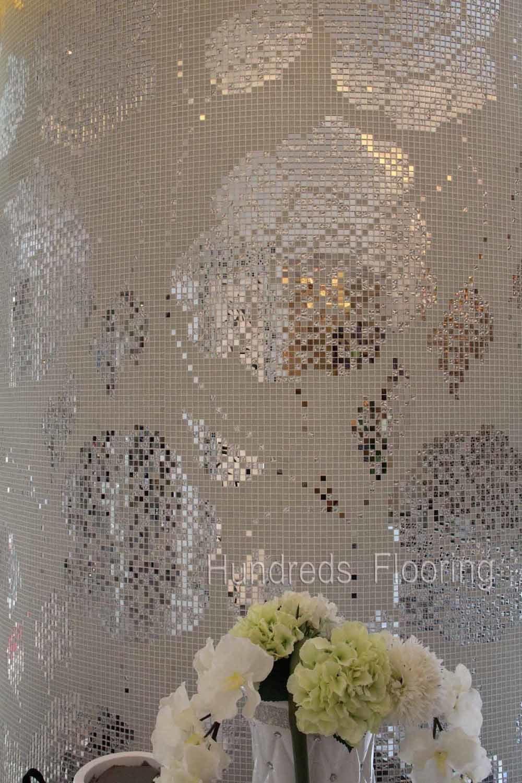 Rosen blumen muster glas mosaik muster wand fliese hmp654 foto auf de made in - Muster an wand ...