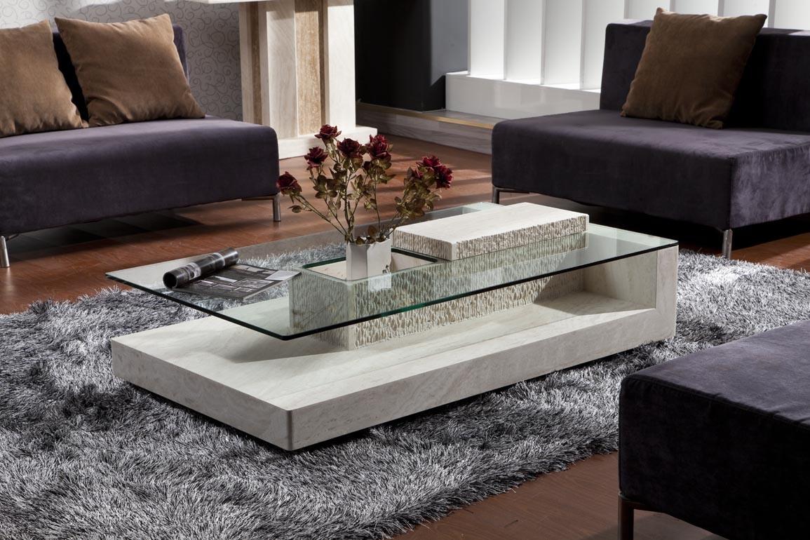 Center Table Designs Glass Top :  Table basse en pierre de Mable D8813  from pixelrz.com size 1155 x 770 jpeg 216kB