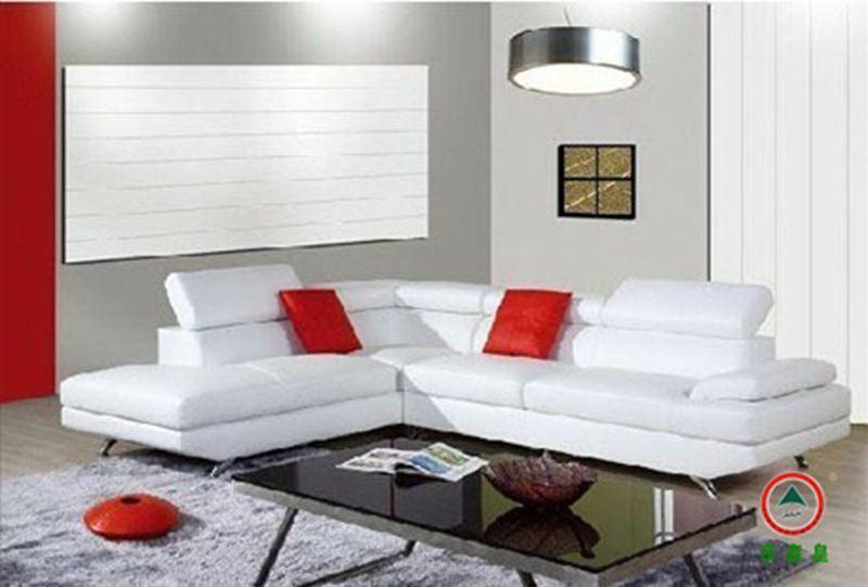 Muebles seccionales de cuero modernos 2014 del sof de la Muebles modernos para sala
