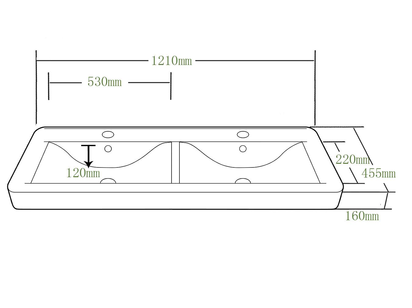 vier rectangulaire de vanit de salle de bains de double