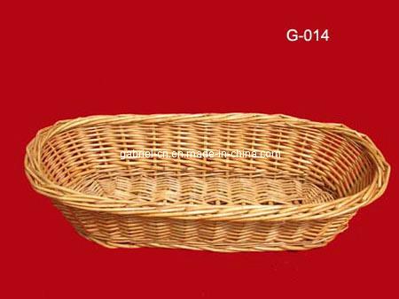 plateau en osier de corbeille pain de saule db030. Black Bedroom Furniture Sets. Home Design Ideas