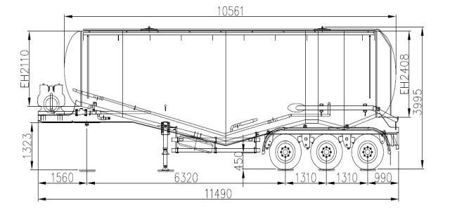 semi remorque de camion citerne du ciment 50m3 zjv9407gflrj photo sur fr made in. Black Bedroom Furniture Sets. Home Design Ideas