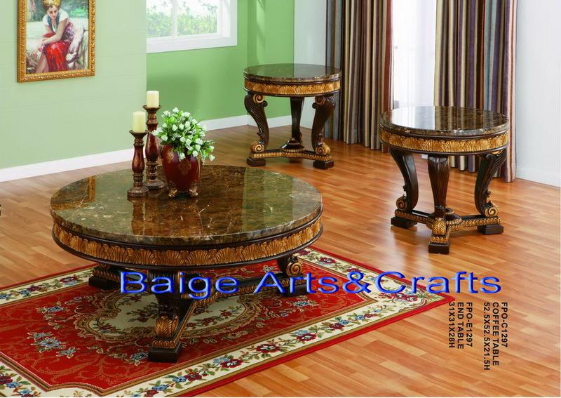 Mesa de centro redonda antigua de madera d1297 mesa de - Mesas de centro antiguas ...