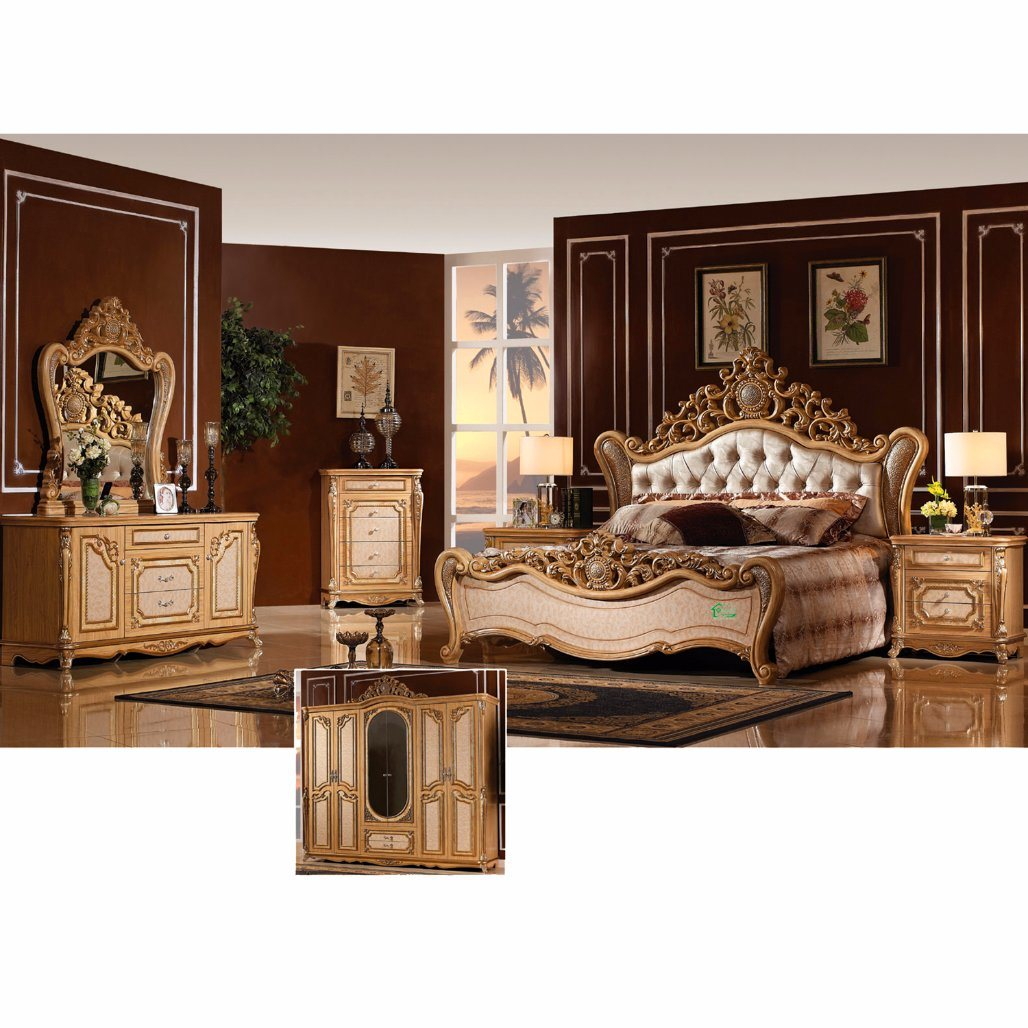 고전적인 침대 및 옷장 (W810)로 놓이는 침실 가구 – 고전적인 ...