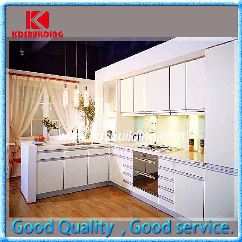 Armadi da cucina laccati bianchi moderni di legno solido di disegno poco costoso kdslc006 - Armadi da cucina ...