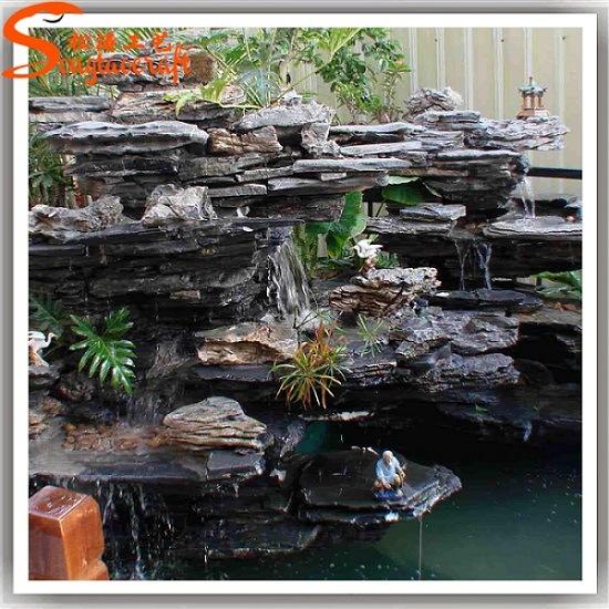 nouvelle fontaine d 39 eau de fondation artificielle en r sine de pierre de jardin de design photo. Black Bedroom Furniture Sets. Home Design Ideas