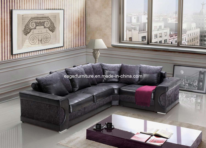Sofá de canto da tela e do couro (ES8405) –Sofá de canto ... - photo#46