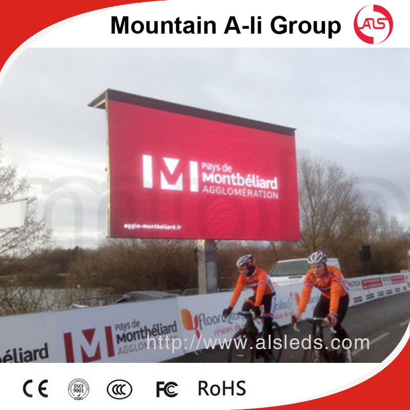 Affichage vid o screen de outdoor full color del for Affichage led exterieur