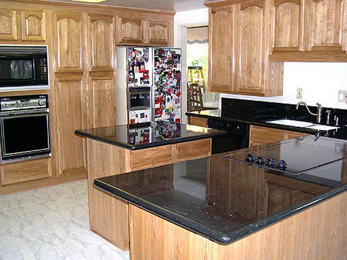 dessus beige de barre de cuisine de partie sup rieure du comptoir de granit dessus beige de. Black Bedroom Furniture Sets. Home Design Ideas