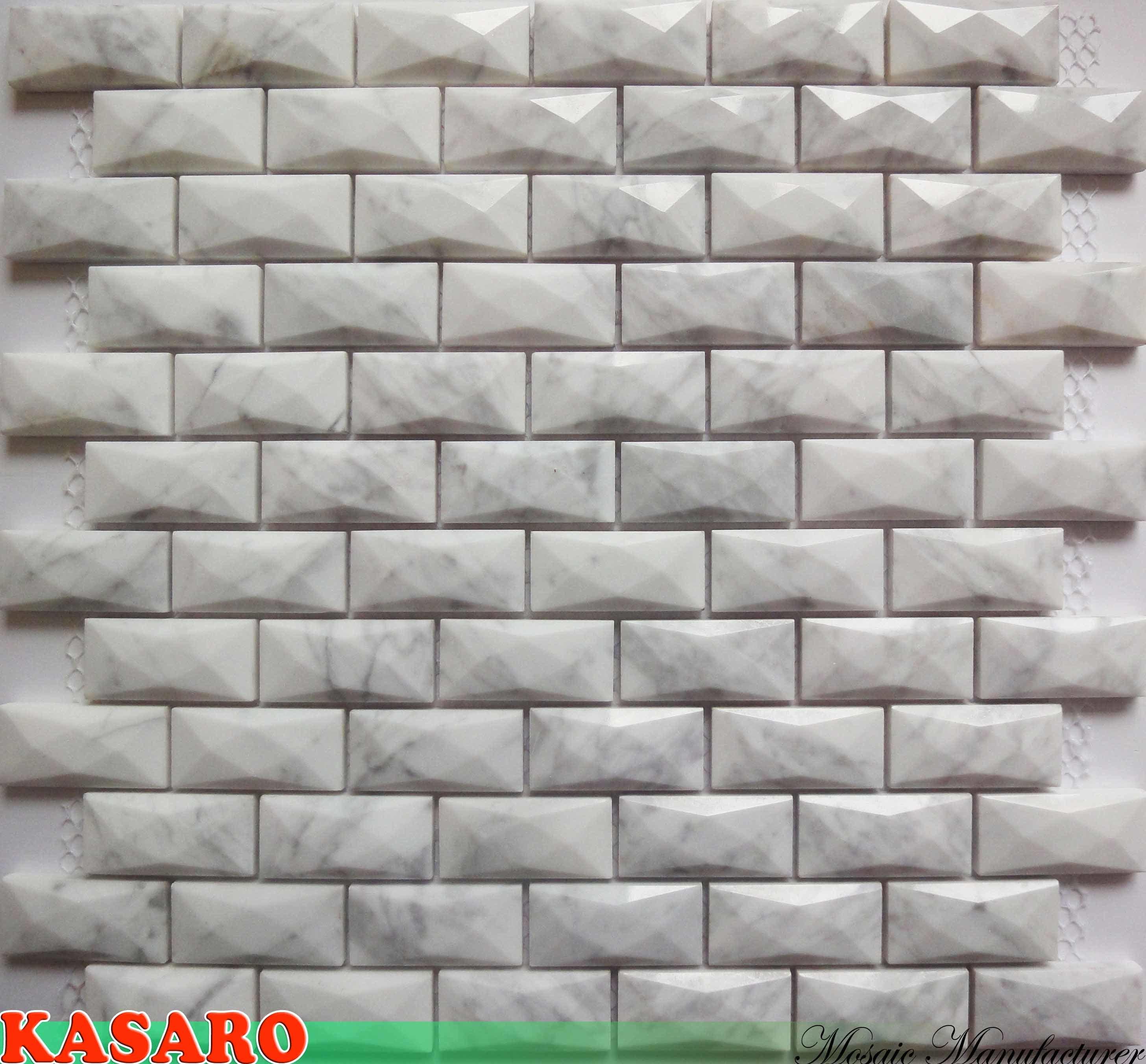 Azulejo de mosaico de m rmol blanco del mosaico tile stone - Azulejos de marmol ...