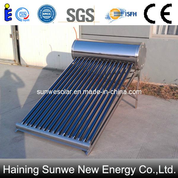 Agua del acero inoxidable del calentador de solare nessun presurizado agua del acero for Riscaldatore di acqua calda del cpvc
