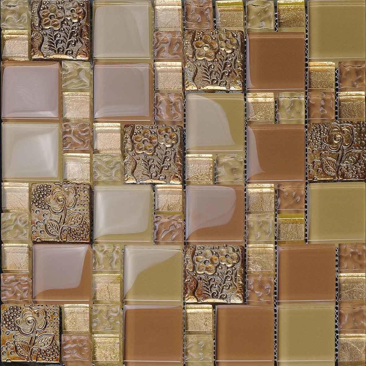 Azulejos de cristal de la pared del mosaico del color de - Azulejos de cristal ...