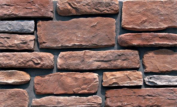 piedra apilada artificial para el de la pared exterior lptn