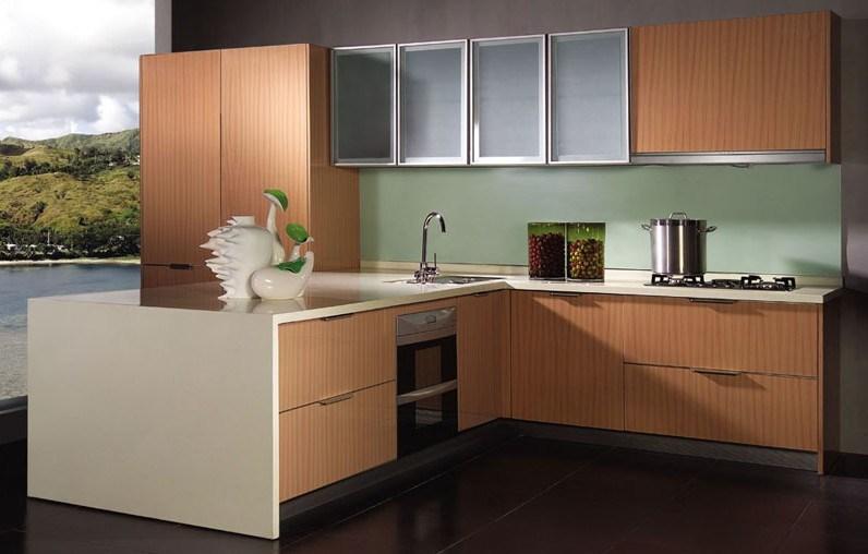 Cabina de cocina moderna modular de la melamina agk 052 for Gabinetes de cocina en melamina