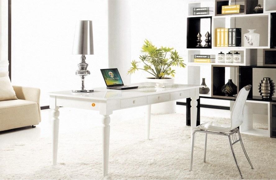 bureau blanc fonctionnant moderne de tableau de peinture d 39 ordinateur wlf dk007 bureau blanc. Black Bedroom Furniture Sets. Home Design Ideas