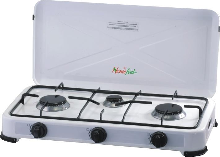 Estufa de gas de tres hornillas con la tapa who 1103 - Estufas de gas para interior ...