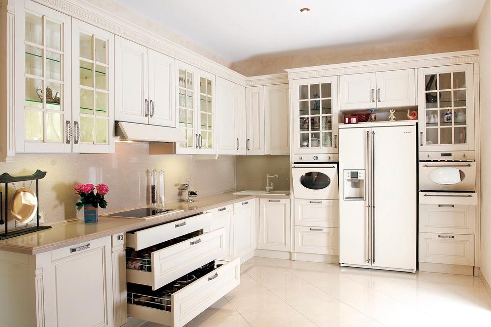 de Ritz Muebles de Cocina Estilo de Europa de álamo blanco de madera