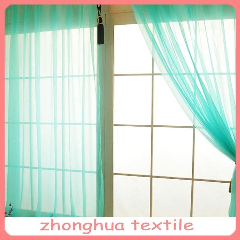 cortina de seda de la gasa del verde de la mirada del poliester natural u cortina de seda de la gasa del verde de la mirada del poliester natural