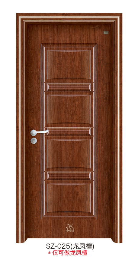 Puerta de madera de acero interior del pvc sz 104 - Puertas de madera de interior precios ...