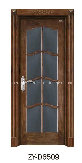 Puerta de madera interior con el vidrio puertas de madera for Puertas de madera con vidrio para interior