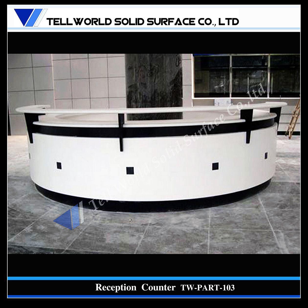 현대 디자인 백색 둥근 수신 카운터 (TW-103)에사진 kr.Made-in-China.com