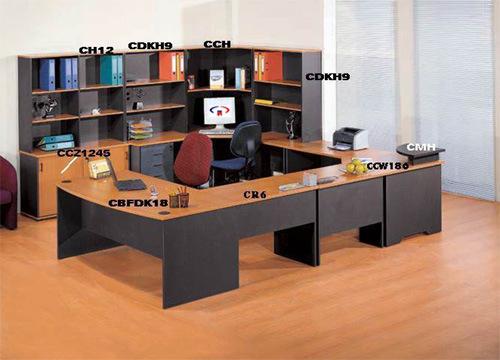 Sitio de trabajo melamina escritorio de oficina muebles de for Lista de muebles de oficina