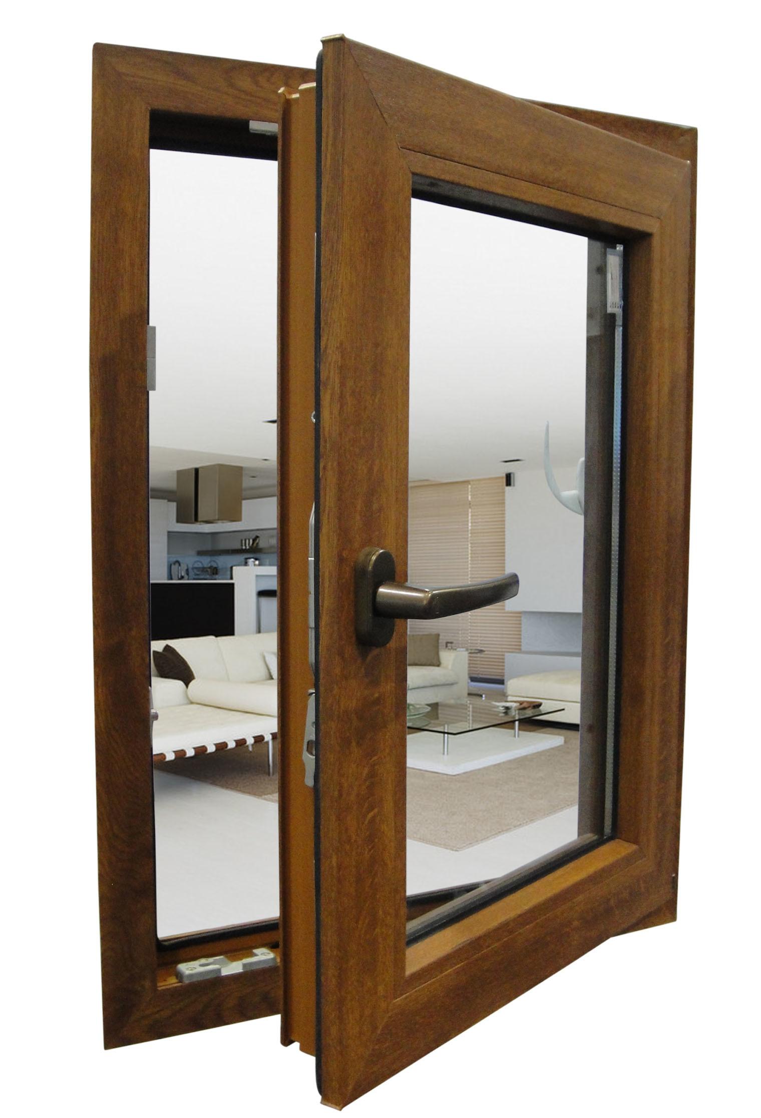 Het duurzame houten venster van het aluminium het for Wood windows colorado