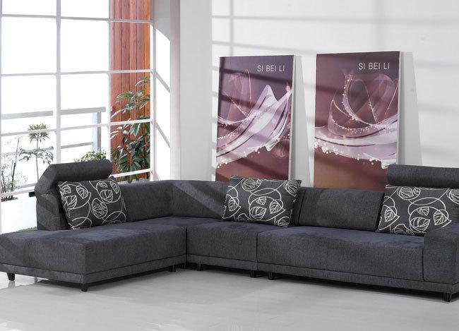 Muebles de la sala de estar sof moderno de la tela del for Muebles de sala de estar modernos