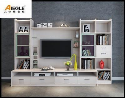Soporte de madera de icd tv con el estante de libro para for Living room icd 10