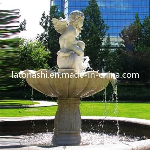 Fontaine d 39 eau en pierre de marbre normale pour le jardin for Fontaine exterieur en pierre