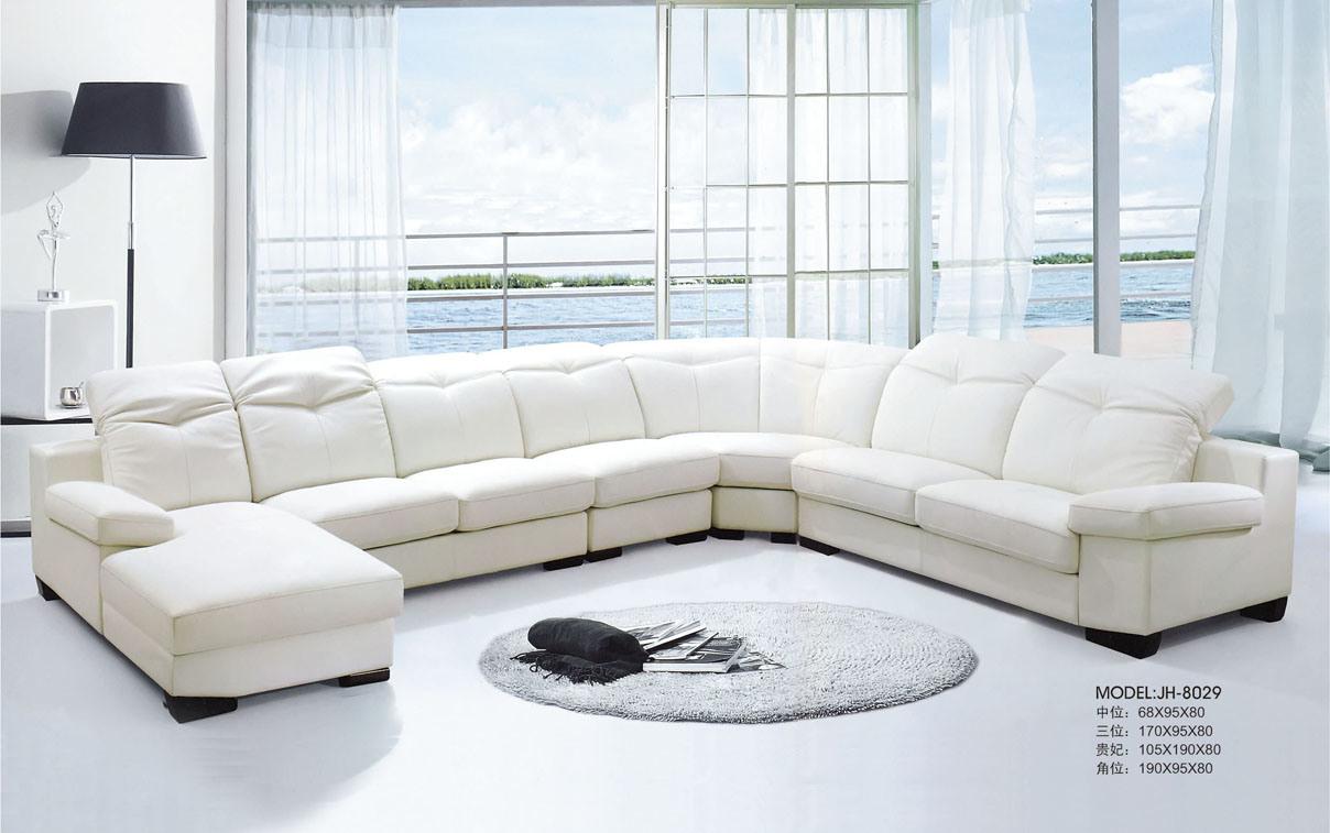 Sofa faisant le coin en cuir (JH-8029) –Sofa faisant le coin en cuir ...