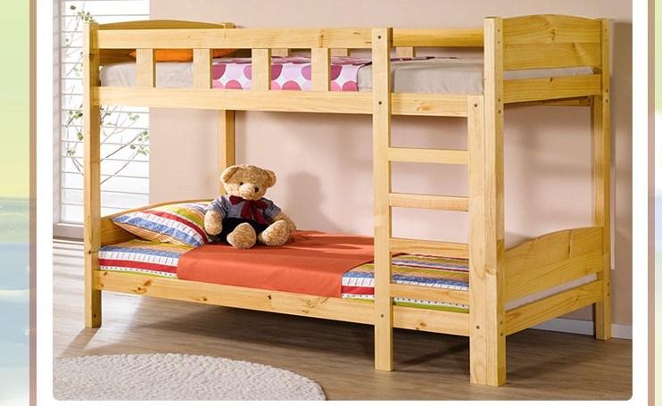 Bed van het stapelbed van het stapelbed van kinderen het volwassen stevige houten bed van het - Modern bed volwassen ...