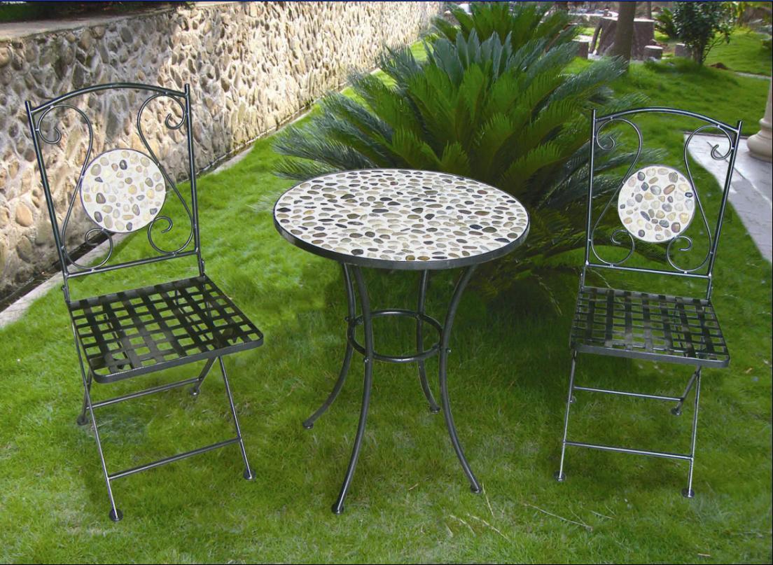 Meubilair van de tuin van bistro van het moza ek van het metaal het vastgestelde meubilair van - Meubilair van de ingang spiegel ...