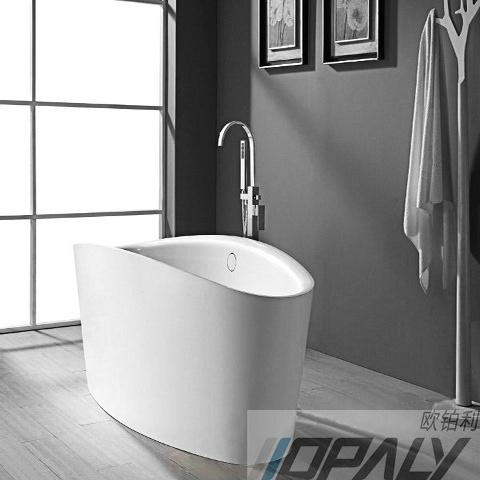 Baignoire autonome de baignoire ext rieure pleine for Baignoire pour petit espace