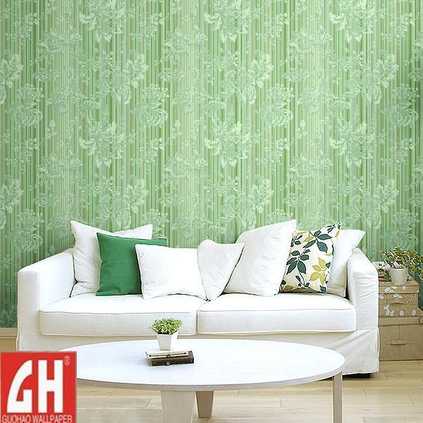 Carta da parati vivente delle pareti di disegno verde for Carta da parati tessuto