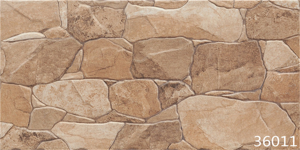 Foto de porcelana piedra natural suelo cer mica pared exterior teja 300x600mm en es made in - Ceramica pared exterior ...